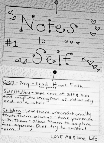 Notes to self 1