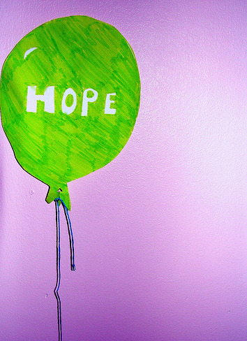 Hope green balloon